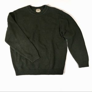 L.L. Bean Green Sweater Men's Large Crew Neck Top